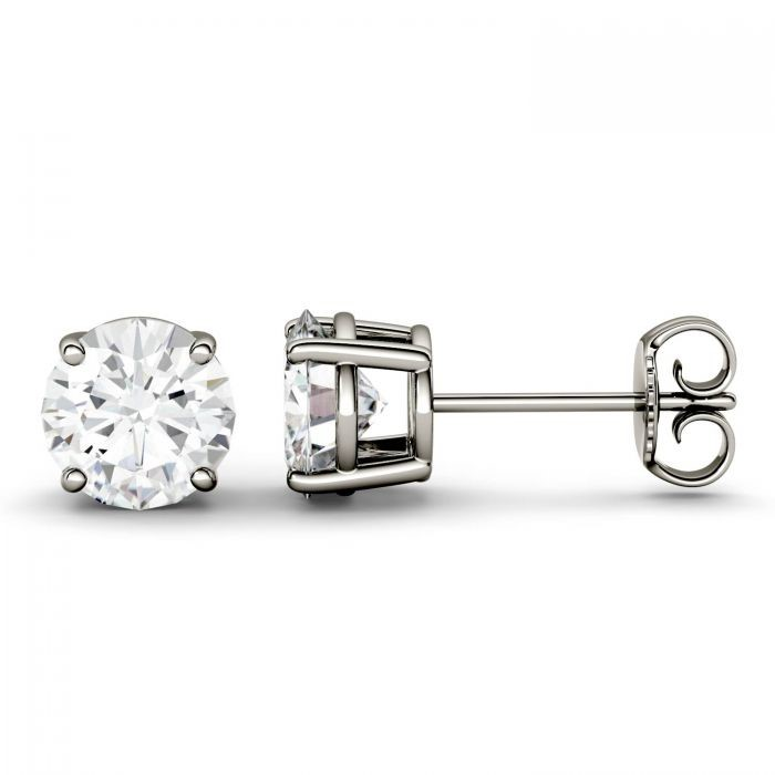 Four Prong Solitaire Stud Earrings
