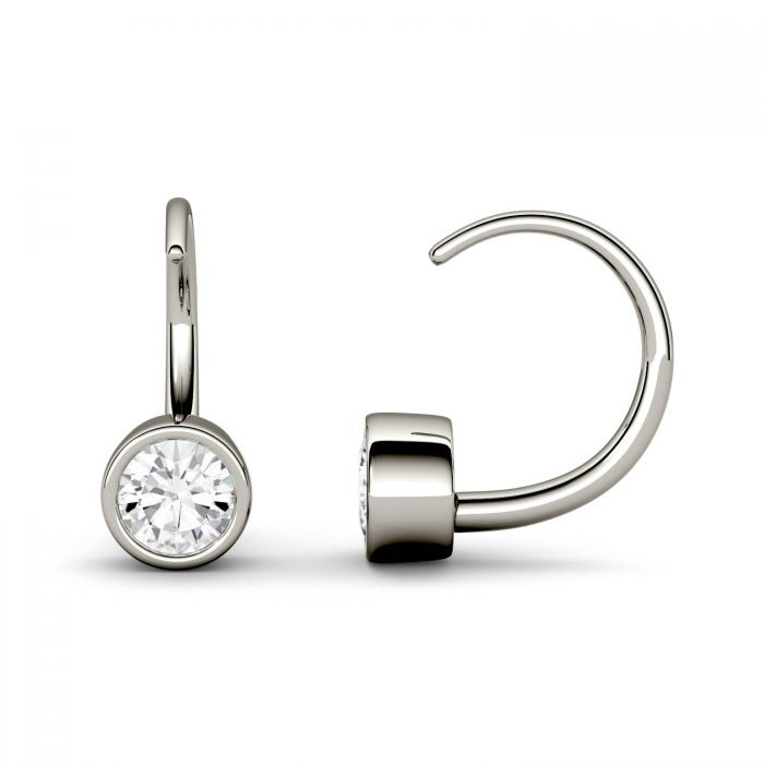 bezel set earring